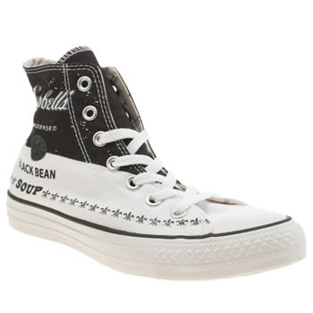 Converse Black & White All Star Warhol Hi Trainers