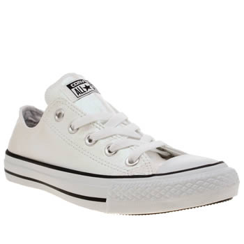 Converse White All Star Glitter Ox Trainers