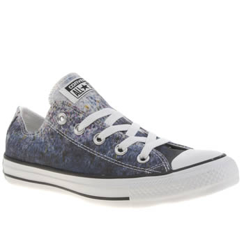 Womens Converse Blue Streaming Colour Ox Trainers