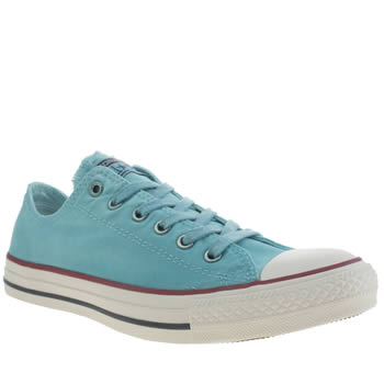 Converse Turquoise All Star Better Wash Oxford Trainers