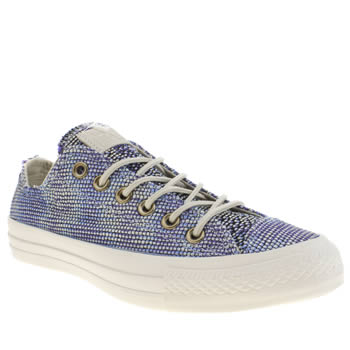 Womens Converse Pale Blue All Star Basket Weave Ox Trainers