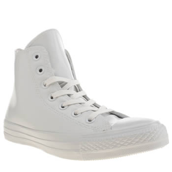 Converse White All Star Rubber Chuck Hi Trainers