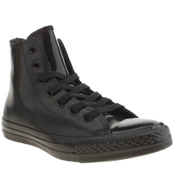Converse Black All Star Rubber Chuck Hi Trainers