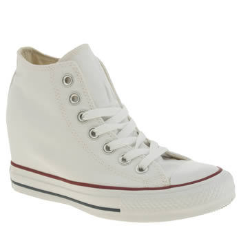 Converse White All Star Lux Canvas Trainers