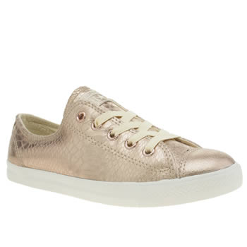 Converse Gold All Star Dainty Metallic Ox Trainers