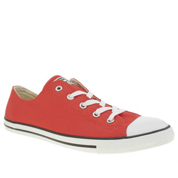 Converse Red All Star Dainty Canvas Oxford Trainers