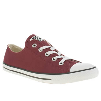 Womens Converse Burgundy All Star Dainty Oxford Trainers