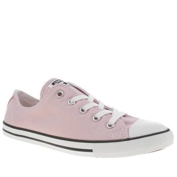 Womens Converse Pale Pink All Star Dainty Ox Trainers