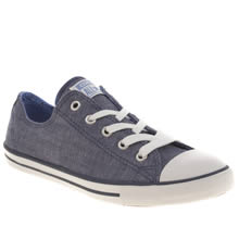 Blue Converse All Star Dainty Oxford Denim