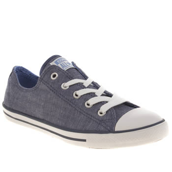 Womens Converse Blue All Star Dainty Oxford Denim Trainers