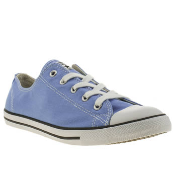 Womens Converse Pale Blue All Star Dainty Oxford Trainers