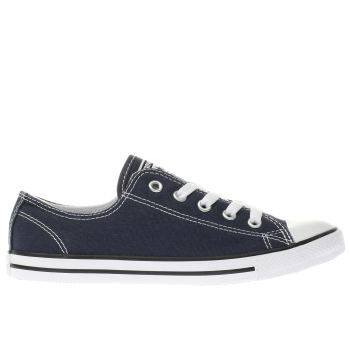 Converse Navy & White All Star Dainty Canvas Ox Womens Trainers
