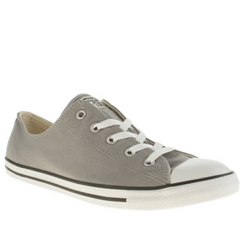 Womens Converse Grey All Star Dainty Canvas Ox Trainers