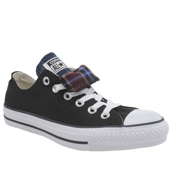 Converse Black and blue All Star Double Tongue Oxford Trainers