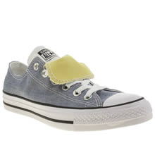 Converse Blue & Yellow Double Tongue Chambray Ox Trainers