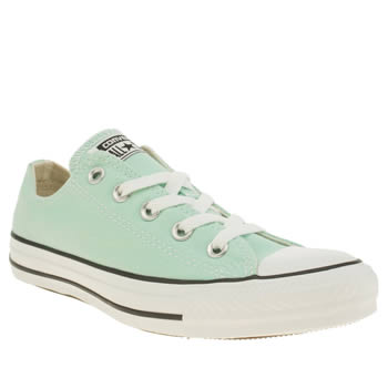 Womens Converse Turquoise All Star Canvas Ox Trainers