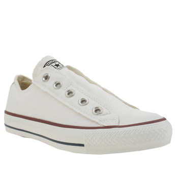 Converse White All Star Slip On Ox Trainers