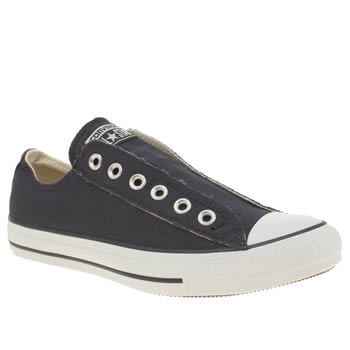 Converse Navy & White All Star Slip On Ox Trainers