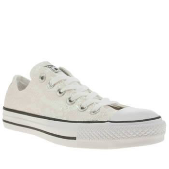 Converse Stone All Star Glitter Lace Ox Trainers