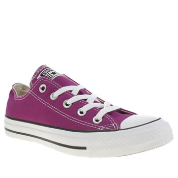 Womens Converse Pink All Star Oxford Trainers