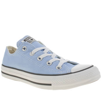 Womens Converse Pale Blue All Star Oxford Trainers