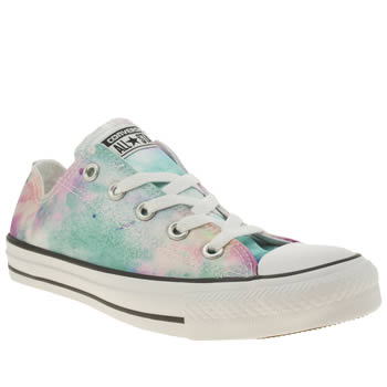 Converse Multi All Star Paint Splatter Ox Trainers