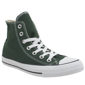 Womens Converse Dark Green All Star Hi Trainers
