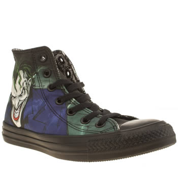 Converse Black & Green All Star Joker Hi Trainers