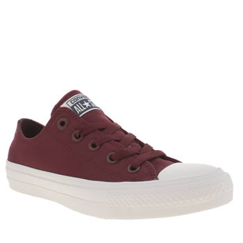 Womens Converse Burgundy Chuck Taylor All Star Ii Ox Trainers