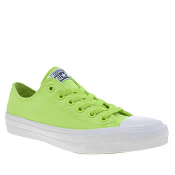 Converse Lime Chuck Taylor All Star Ii Neon Womens Trainers