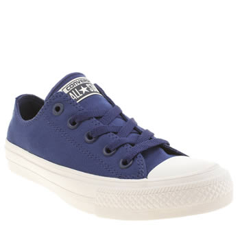 Converse Navy & White Chuck Taylor All Star Ii Ox Trainers
