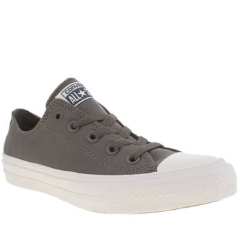 Converse Grey Chuck Taylor All Star Ii Ox Womens Trainers