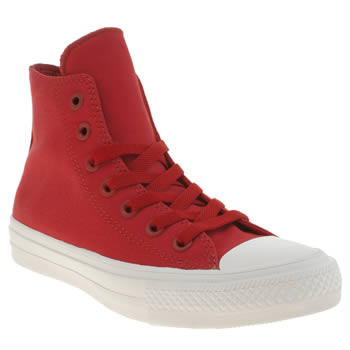 Converse Red Chuck Taylor All Star Ii Hi Trainers