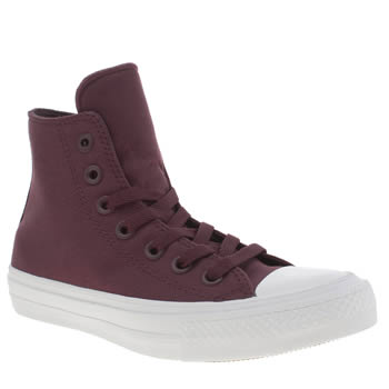 Converse Burgundy Chuck Taylor All Star Ii Hi Womens Trainers