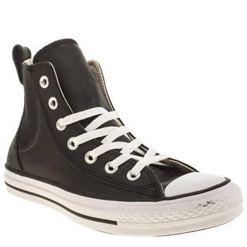 Converse Black & White All Star Chelsee Leather Hi Trainers