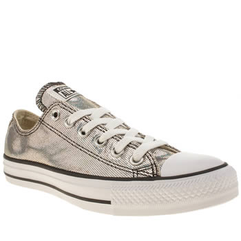 Converse Silver Iridescent Oxford Trainers