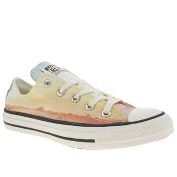 Converse Yellow All Star Photo Real Sunset Ox Trainers