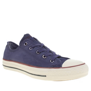 Womens Converse Purple All Star White Wash Ox Trainers