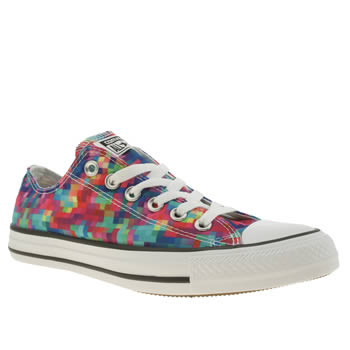 Converse Multi All Star Pixel Print Ox Trainers