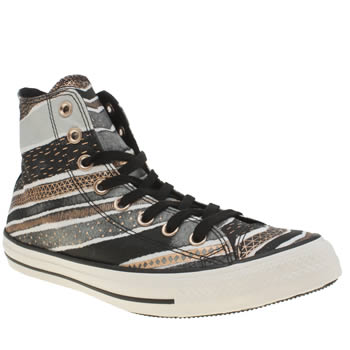 Converse Black & Rose Gold  All Star Festival Stripes Hi Trainers