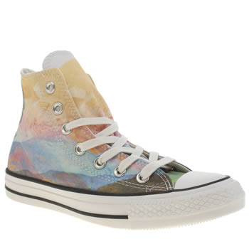 Converse Multi Photo Real Sunset Hi Trainers