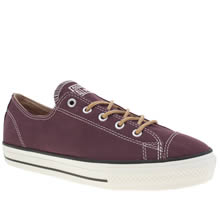 Converse Burgundy All Star High Line Craft Ox Womens Trainers
