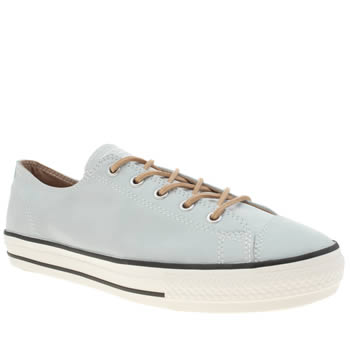 Converse Pale Blue All Star High Line Craft Ox Trainers