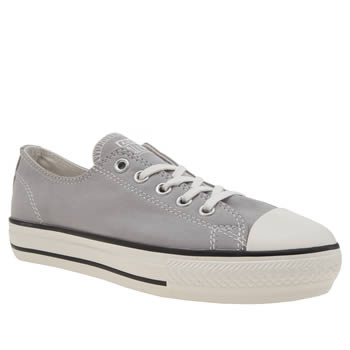 Womens Converse Light Grey All Star High Line Peached Ox Trainers