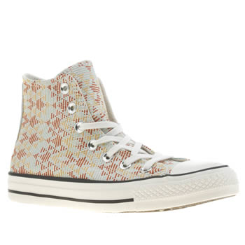 Converse Multi All Star Raffia Weave Hi Trainers