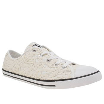 Converse Stone All Star Dainty Crochet Ox Trainers