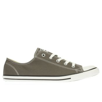 Converse Dark Grey As Dainty Ox Trainers