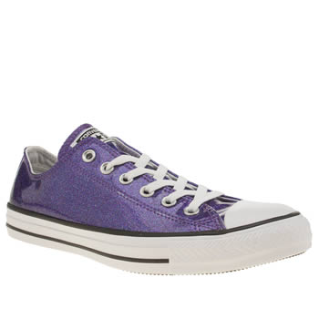 Womens Converse Purple All Star Glitter Ox Trainers