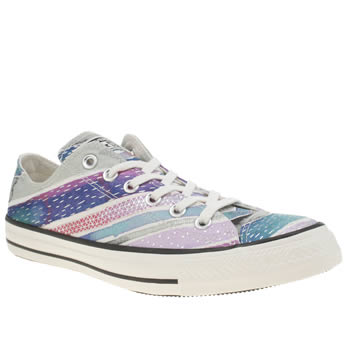 Converse Purple All Star Festival Stripes Ox Womens Trainers