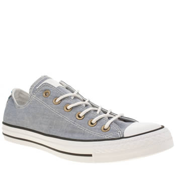 CONVERSE PALE BLUE ALL STAR CRAFT CHAMBRAY OX TRAINERS